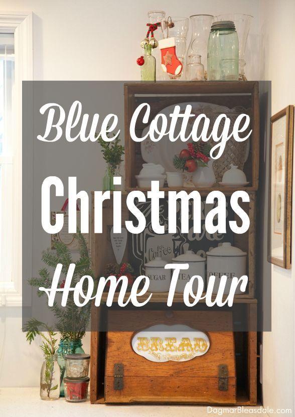 Blue Cottage Christmas Home Tour, DagmarBleasdale.com, #cottage #Christmas #hometour #decor #farmhouse