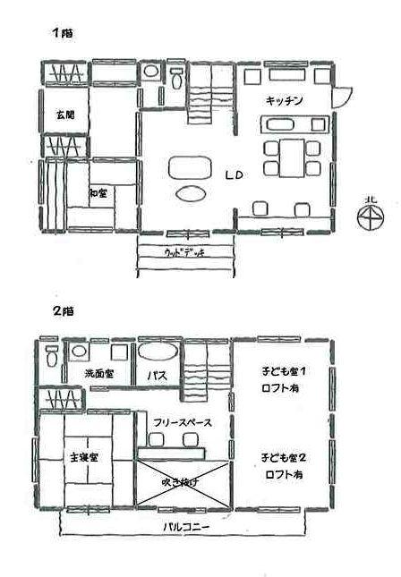 2階建て 40坪 4ldk 間取りプラン例 間取り 40坪 2階