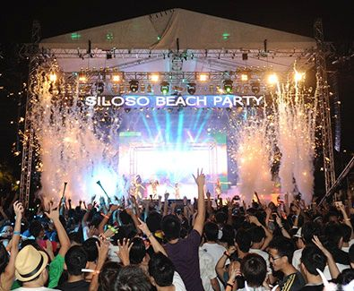 Siloso Beach Party 2013 -  Usher in the New Year with thousands of revellers at one of Asia's biggest beach countdown parties.