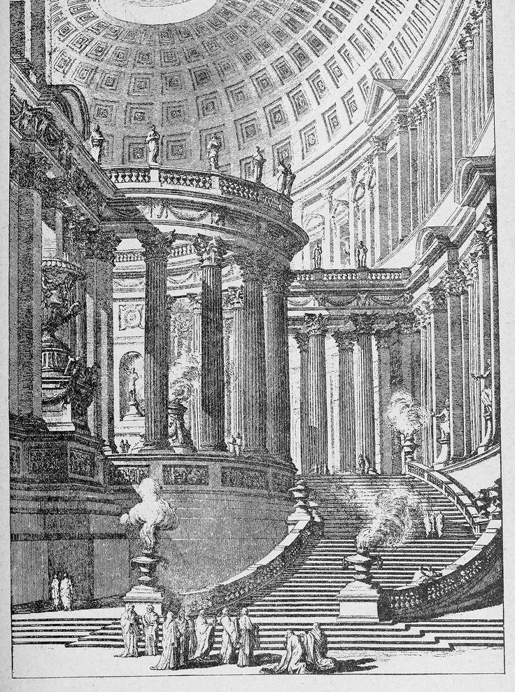 Piranesi's design for a monumental staircase