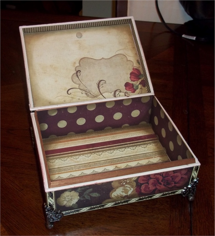 1000 images about boxes on pinterest beautiful for Cardboard cigar box crafts