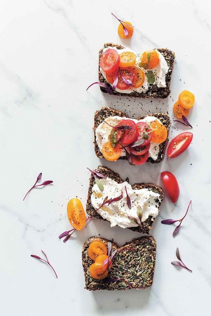 Baby marrow, seed and herb no grain bread recipe