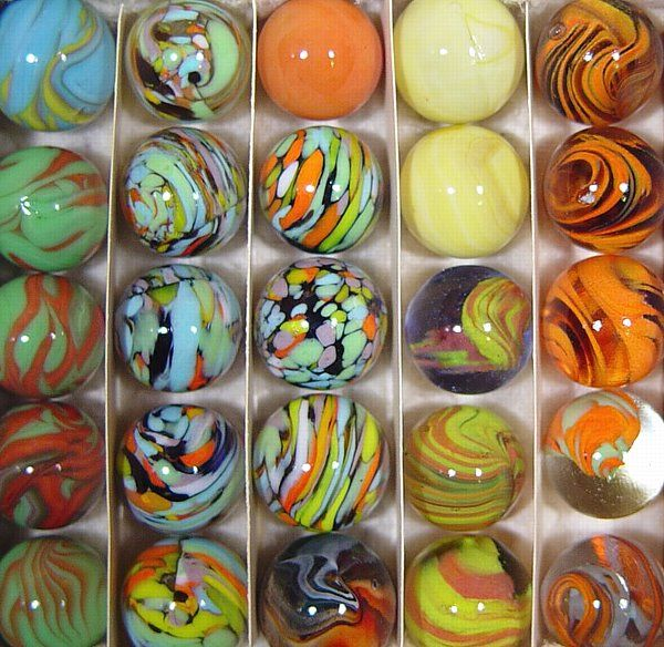 Collectible Marbles Machine Made Glass Marbles Early