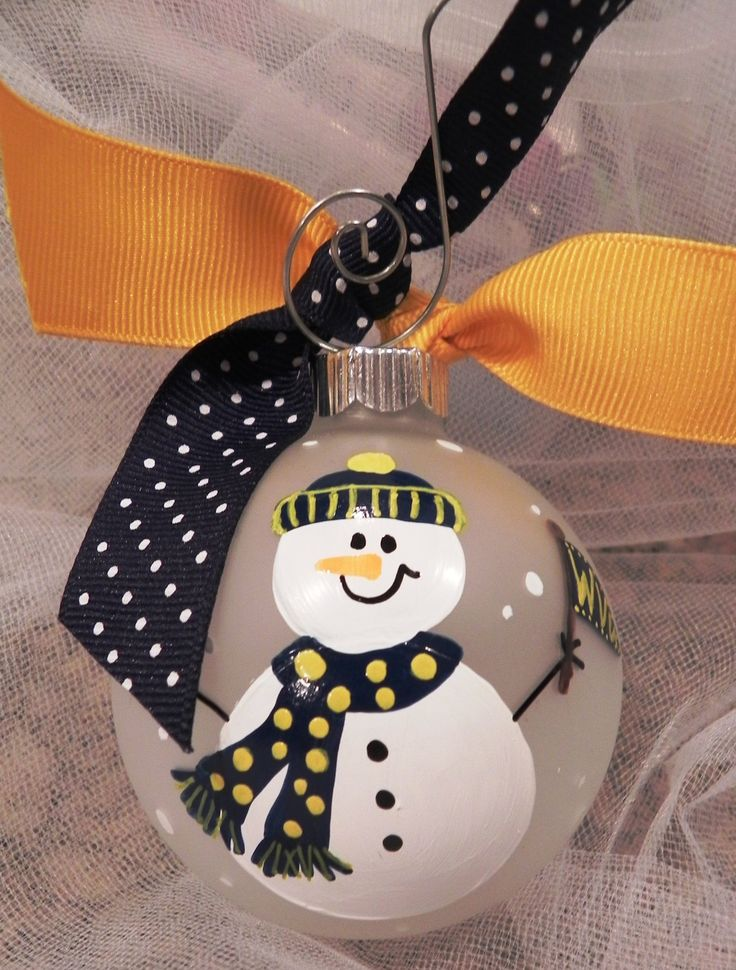 Hand Painted Christmas Ornament Sports Fan by SassyPeasDesigns