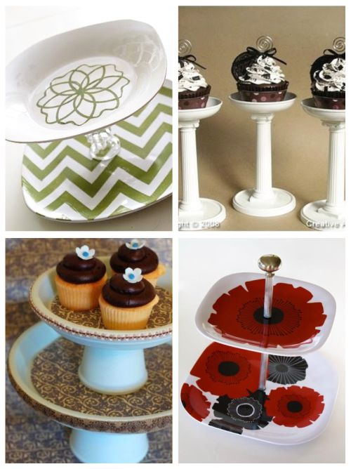Make your own cupcake stands DIY! You can  take plates and glue egg cups to make these sands. Or follow the link.