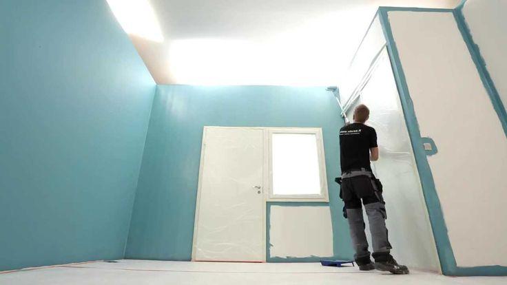 Eteisen seinien remonttimaalaus - PROF. How to paint the hallway walls.