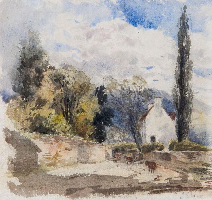 Lot 125 - James Stark (1794-1859) - Landscape with cottage, Storrington, Sussex, Watercolour over pencil,