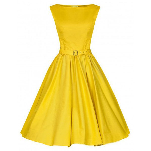Choies Yellow Vintage Sleeveless Midi Dress ($31) ❤ liked on Polyvore featuring dresses, yellow, mid calf dresses, vintage yellow dress, yellow sleeveless dress, no sleeve dress and calf length dresses