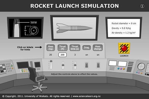 Rocket launch simulation
