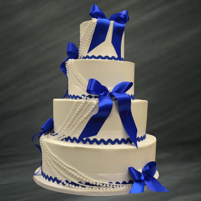 Wedding Cake Ideas Royal Blue: Multi Tier Royal Blue Wedding