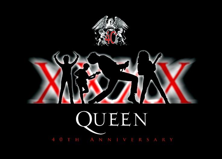 Queen 40th annivesary t-shirt design