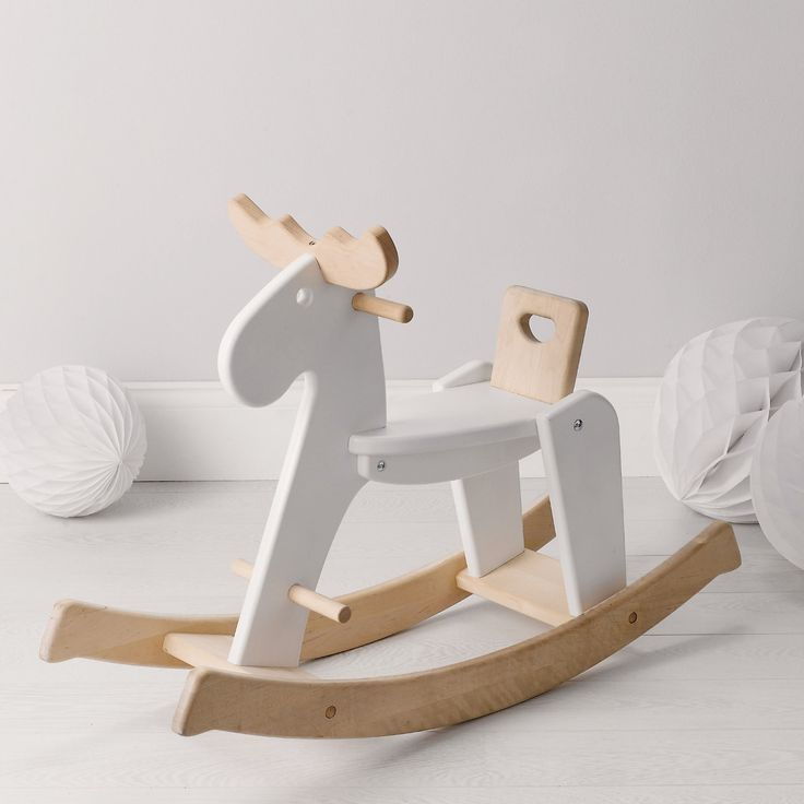 Buy Toys & Books > Luxury toys > Wooden Rocking Reindeer from The White Company