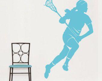 Lacrosse Player Wall Art Decal Lacrosse Fan by WallumsWallDecals