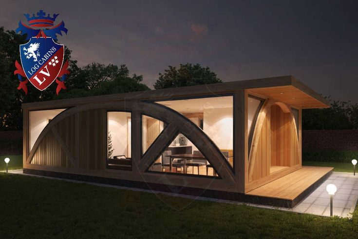 Residential Timber Frame Glulam Insulated Park Home by www.logcabins.lv (10)