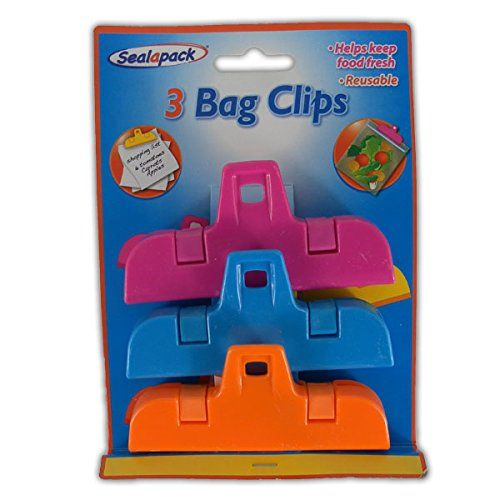 buy now   £1.89  Main Features Ideal for sealing bags for fridge and freezer storage 3 Clips Helps to keep food fresh Reusable 10cm Wide    ...Read More