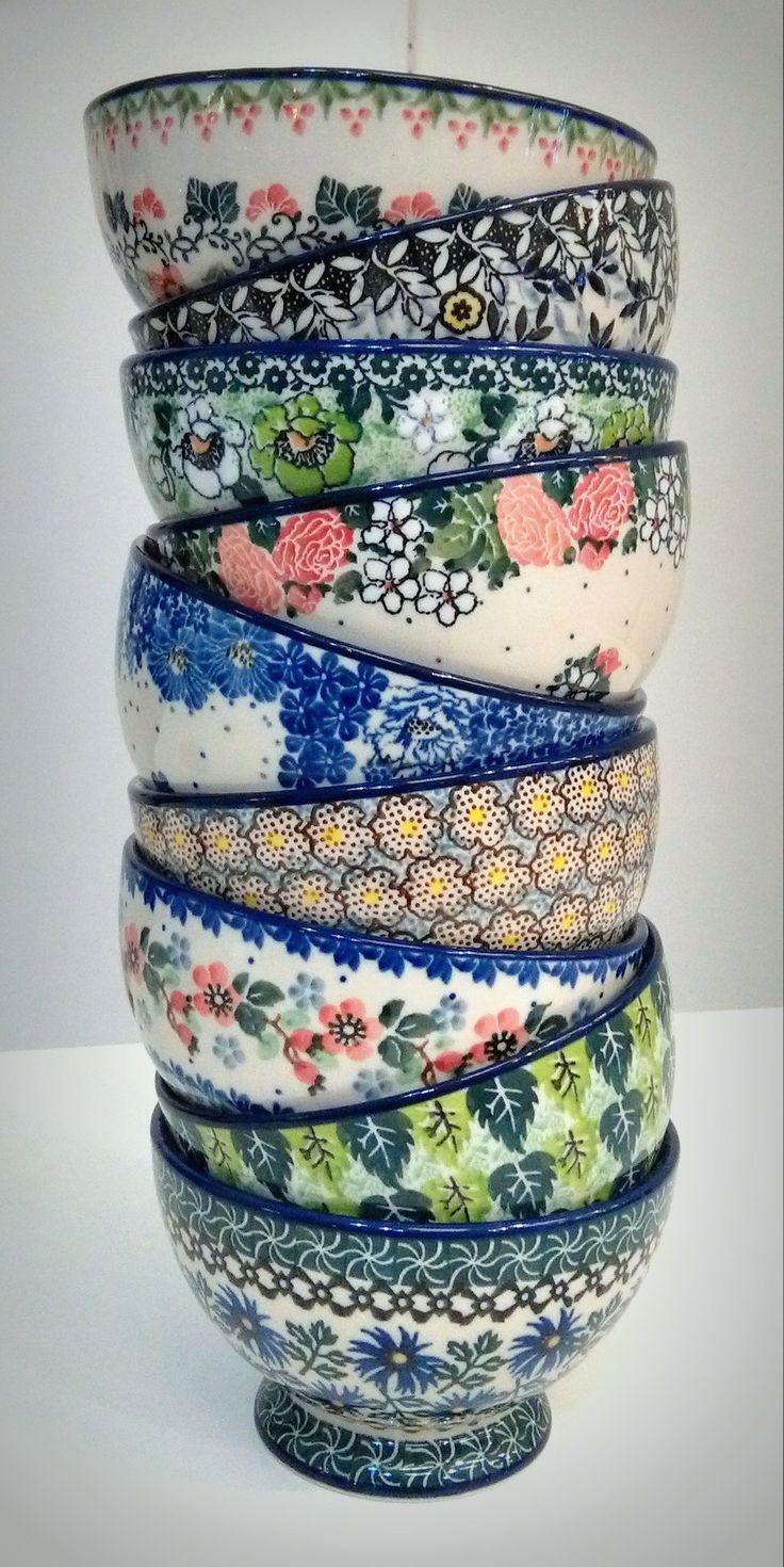 polish pottery kitchen decorating ideas