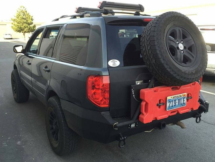 Honda Pilot Lifted Steel Rear Bumper  #Darkaray