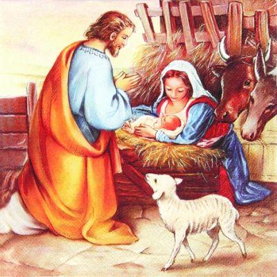 4468 Servilleta decorada Navidad