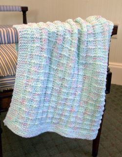 Free Knitting Pattern! Textured Baby Blanket