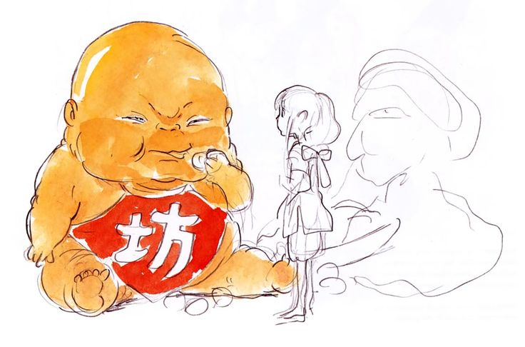 Living Lines Library: 千と千尋の神隠し / Spirited Away (2001) - Character Design, Color Concepts