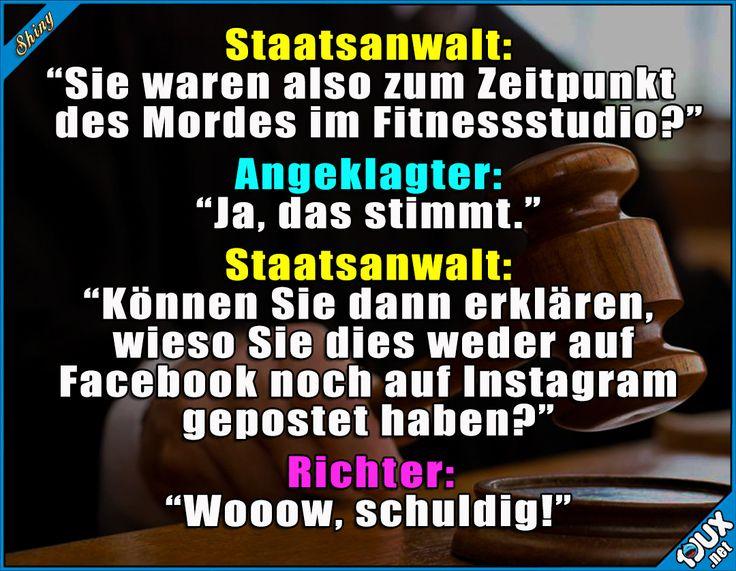 Ganz klar schuldig! :P  Lustige Sprüche und Bilder #Humor #Sprüche #lustigeBilder #lustigeMemes #Memes #Fitness #Fitnessstudio #Instagram #nurSpaß