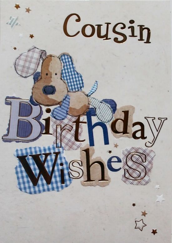 Cousin Birthday wishes greeting card, dog, suitable for male or female, new #Selective #BirthdayCousin