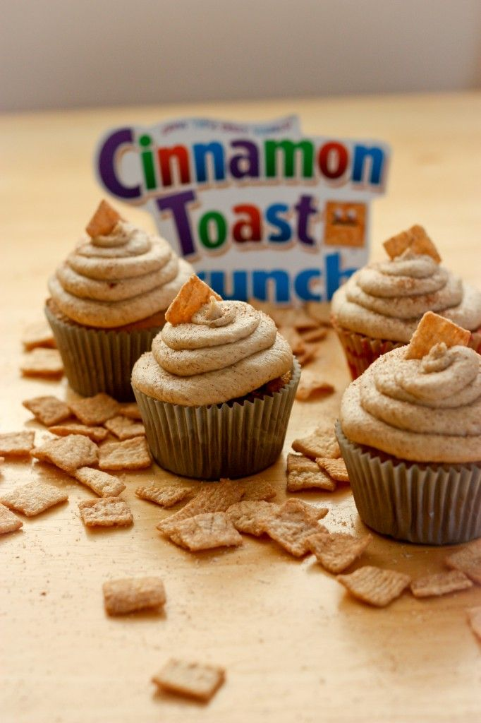 Cinnamon Toast Crunch cupcakes! I just need the right occasion to make these...
