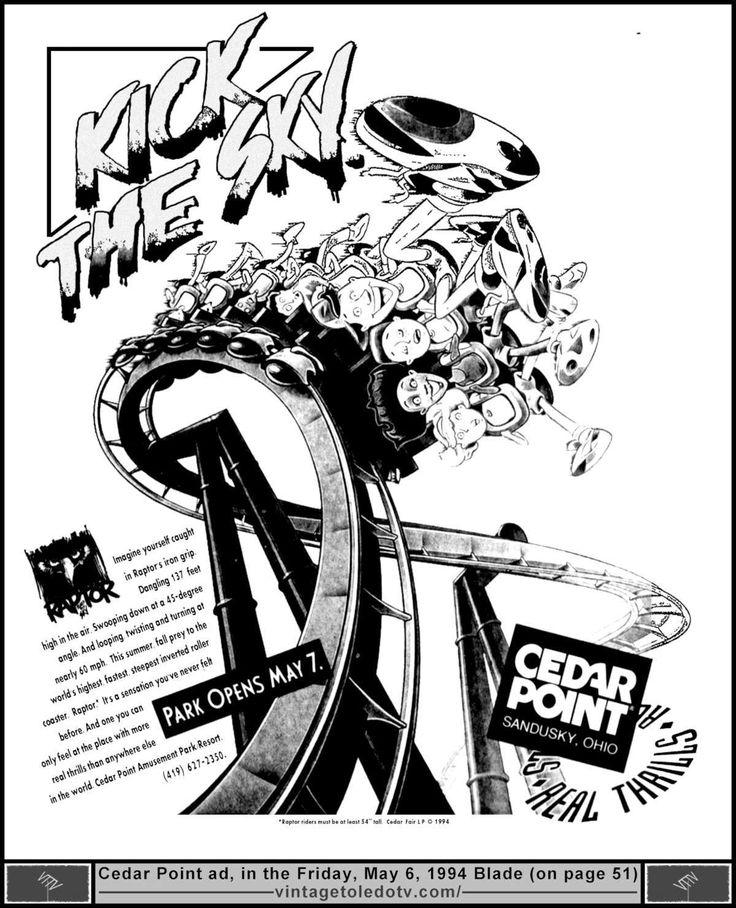 Cedar Point List And Description Of Rides