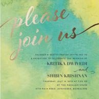 Reception Cards Invitations Green Sweet & Stylish Reception
