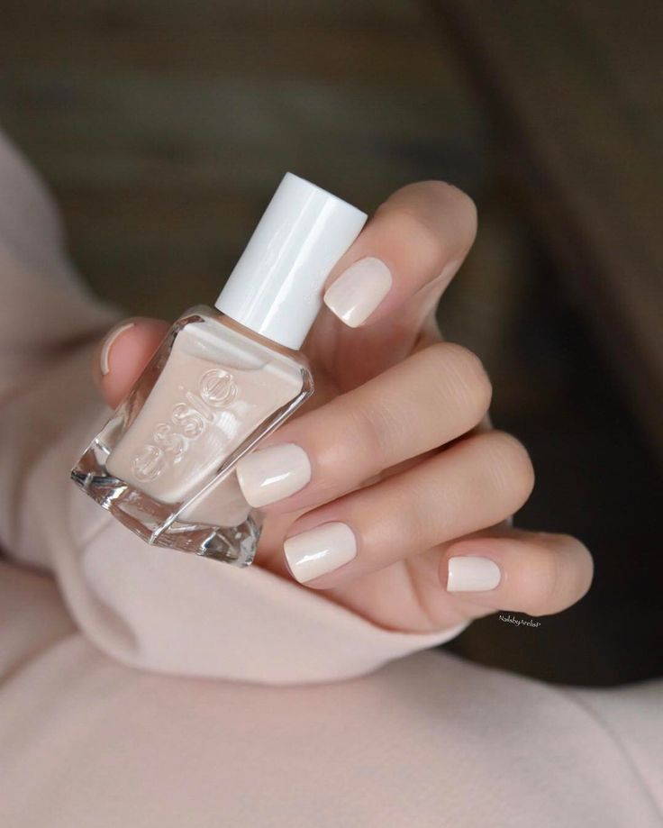 """868 Likes, 10 Comments - Arelis P. (@nailsbyarelisp) on Instagram: """"Essie Gel Couture Ballet-Nudes Collection... SATIN SLIPPER is a silky champagne ivory. Stunning!!!…"""""""