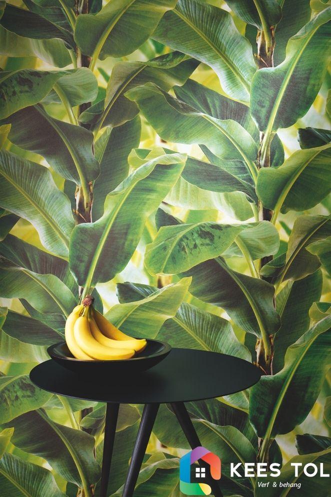 #Banana #Palmleaves #Behang #Natuurlijk