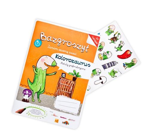 """Bazgroszyt """"Zanim zacznę pisać"""" Kolorozaurus http://www.bazgroszyt.pl/sklep/produkty/bazgroszyt-kolorozaurus-128"""
