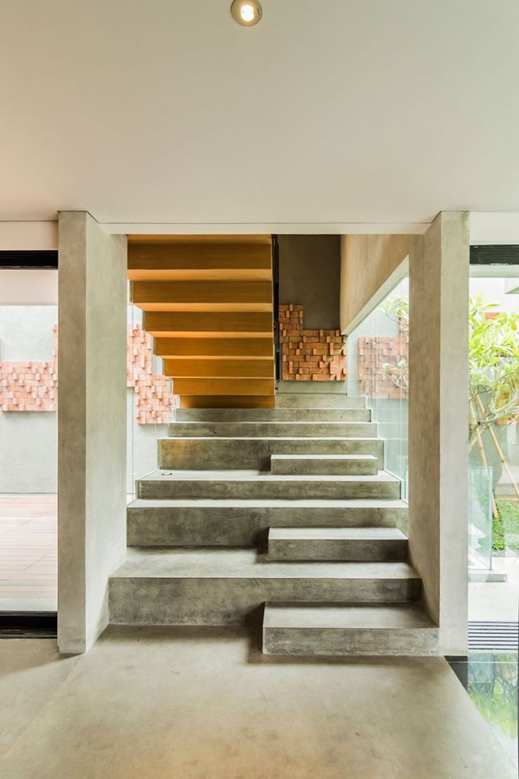 Lumber Shaped Box House by Atelier Riri   Staircase design ...