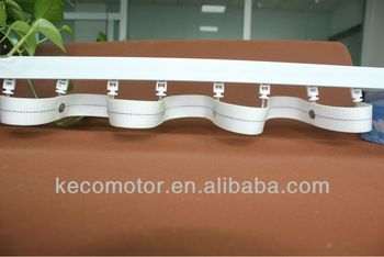 KECO Curtain Rail ripple fold curtain non-winding design, solid material and quiet moving
