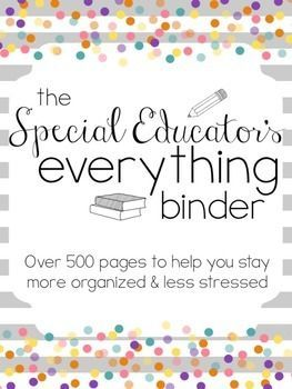 The Special Educator's Everything Binder (SPED Teacher Lesson Planner)