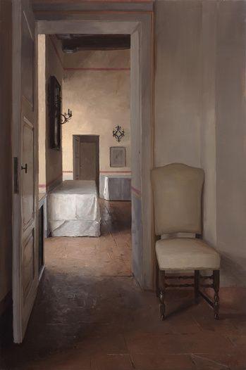Tuscan Interior with Chair, Borgo Finocchieto