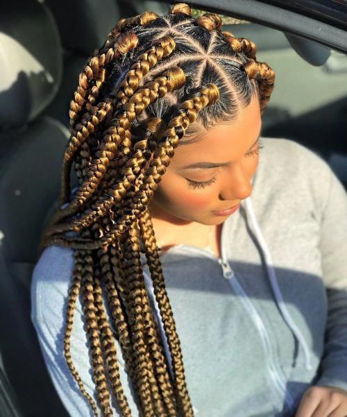 20 Triangle Braids Hairstyles #Braided #hairstyle…