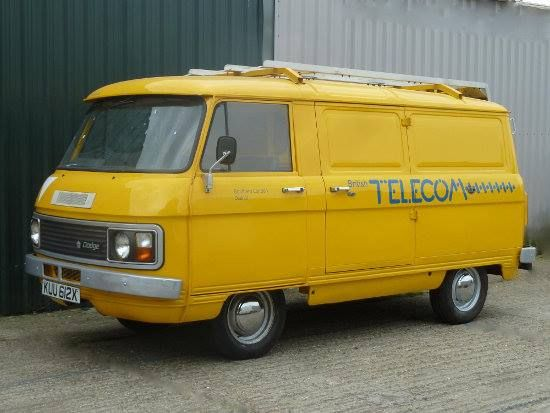 Commer/Dodge van in British Telecom livery. These are so cool.