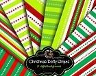 Printable Christmas Digital Background Stripes