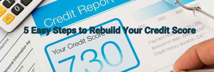 5 Easy Steps to Rebuild Your Credit Score :  https://www.paydaycity.com.au/9/5-easy-steps-to-rebuild-your-credit-score