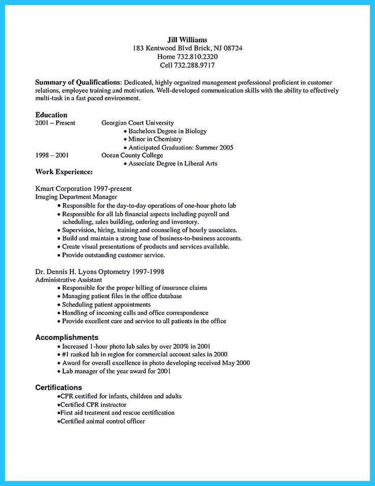 25+ beste ideeën over Resume summary examples op Pinterest - resume summary statement examples