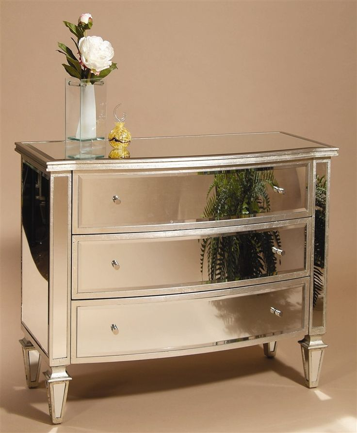 3 Drawer Mirrored Chest In Silver Trim. Mirrored Bedroom FurnitureMirrored  ...