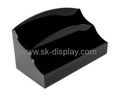 Acrylic display stand manufacturers customized black lucite stands holder SOD-201
