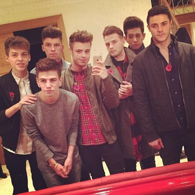 All of the boys, except Charlie, before going to the Arsenal game tonight