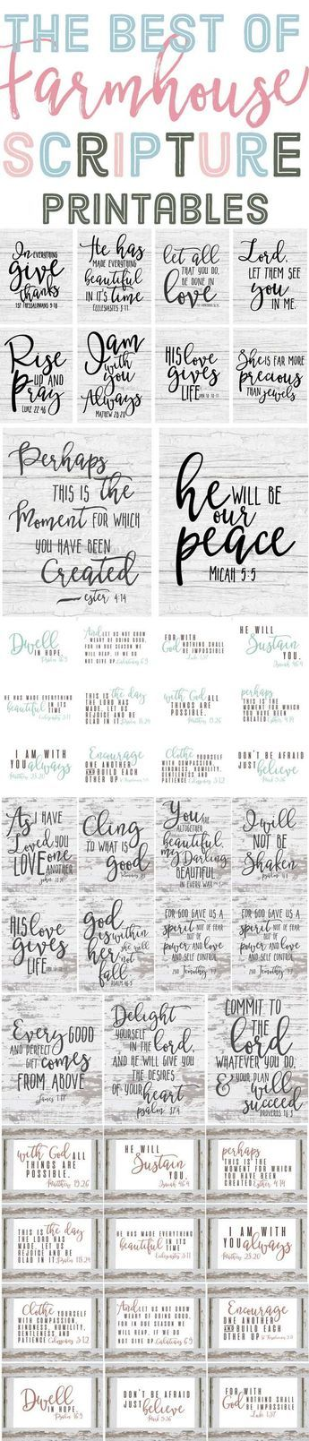 Wow this is a long list of printable farmhouse scriptures. I love these