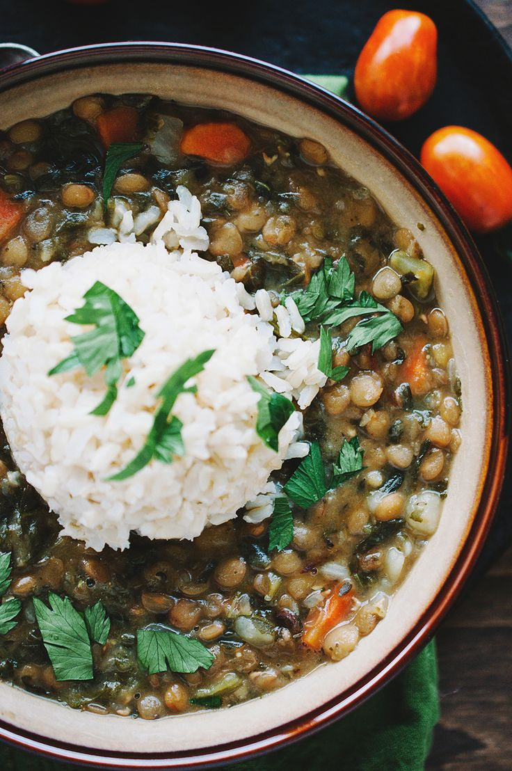 CREAMY LENTILS WITH TURNIP GREENS