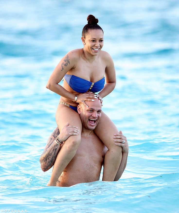 Mel B and her husband in Turks and Caicos