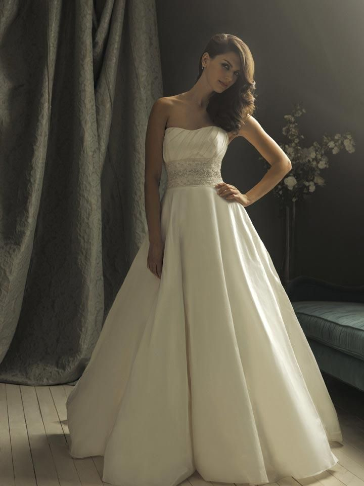 Suitable Delicately Softly Curved Neckline Pleated Bodice Ball Gown Wedding Dress In New Season