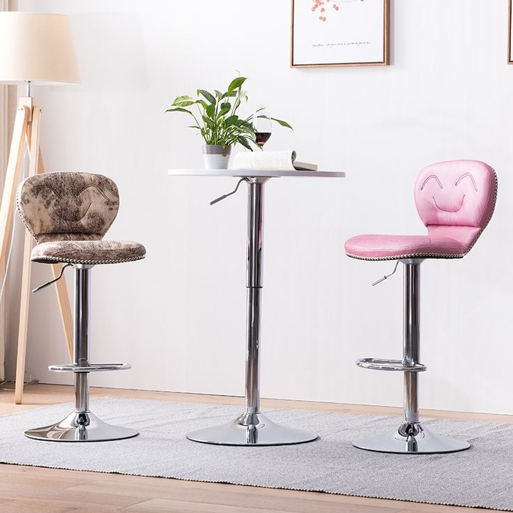 Pink purple bar chair PU leather seat white red yellow green ect color Luxury club stool free shipping