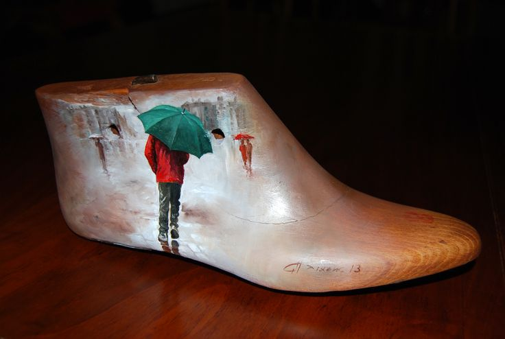 painted wooden shoe tree
